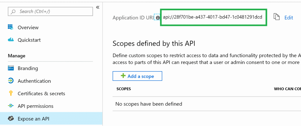 Azure Active Directory: Application ID URI